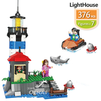 assemble City Creator Town lighthouse beacon Construction DIY building brick block Fit legoing kids Boys toys children gift