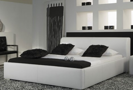 simple leisure modern leather bed king size bedroom furniture made in chinachina - Modern Beds
