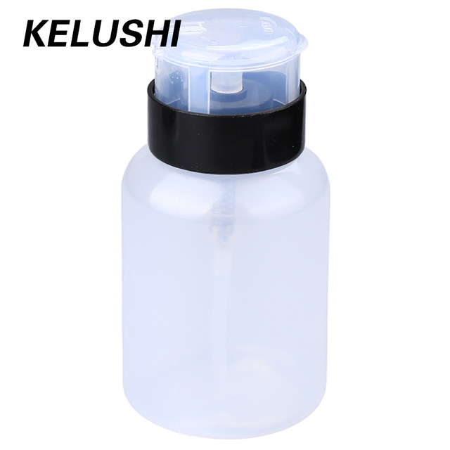 KELUSHI High quality 250ml Alcohol Liquid Press Pumping Dispenser Empty Bottle For FTTH Fiber Tool(10pcs) Free Shipping