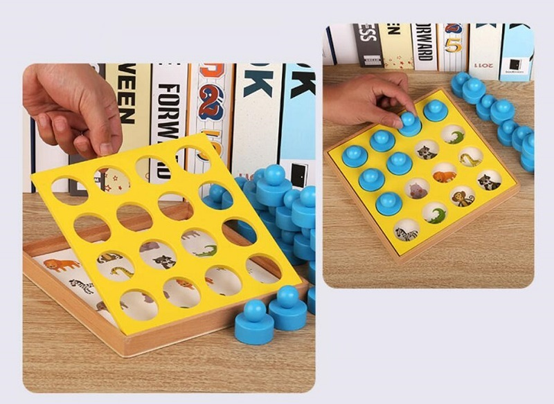 Buy Cheap Wooden Baby Learning Toys For Children Memory Concentration Training Early Education Parent-child Interactive Game Chess Toys Without Return Learning & Education