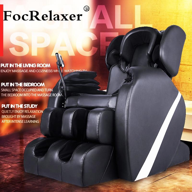 Електрически пълно тяло Zero Gravity Shiatsu w / Heat AIRBAG Опънати крачета за почивка на дълбок тъканен масажен стол