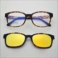 2015 nova marca designer Super leve ultem óculos de armação com ímã revestido conjunto de óculos de sol polarizados clips jkk72 mulher navio livre