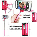 Bluetooth Phone Selfie Stick Case for iphone 6plus Monopod Silicone Stand Holder Cover Case Kickstand Foldable Extendable Tripod