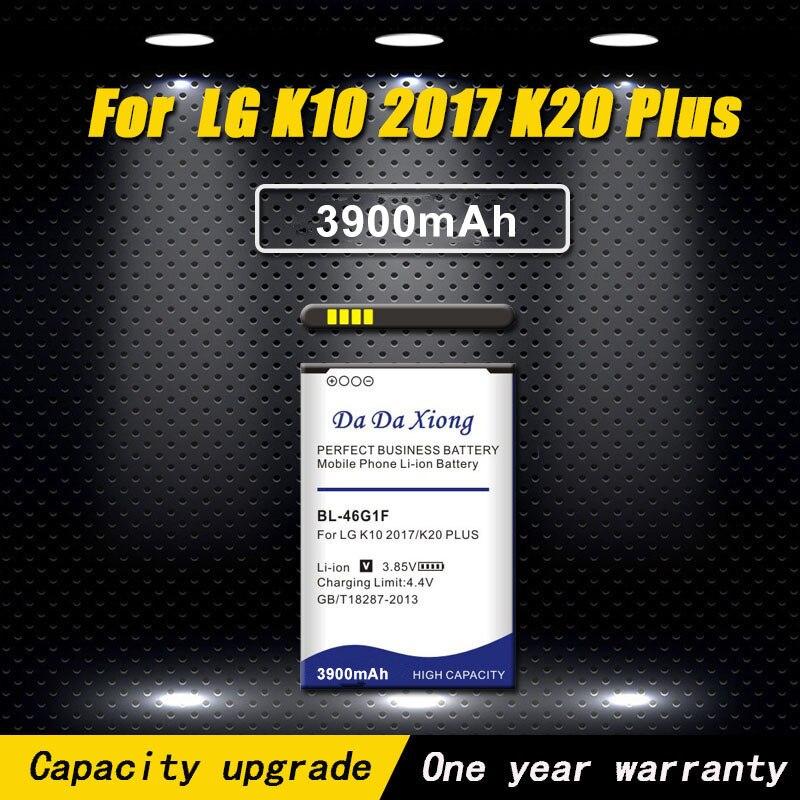 Da Da Xiong 3900mAh Bateria para LG K10 BL-46G1F 2017 K20 Plus TP260 K425 K428 K430H Baterias de Telefone Celular