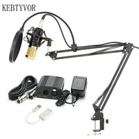BM 800 Professional Wired 3 5mm Condenser Microphone BM 800 NB 35 Microphone Stand Adjustable For