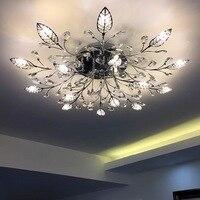 Современные потолочные светильники цветок светодиодный светильник для гостиной спальни кабинет avize поверхностного монтажа plafonnier потолочн