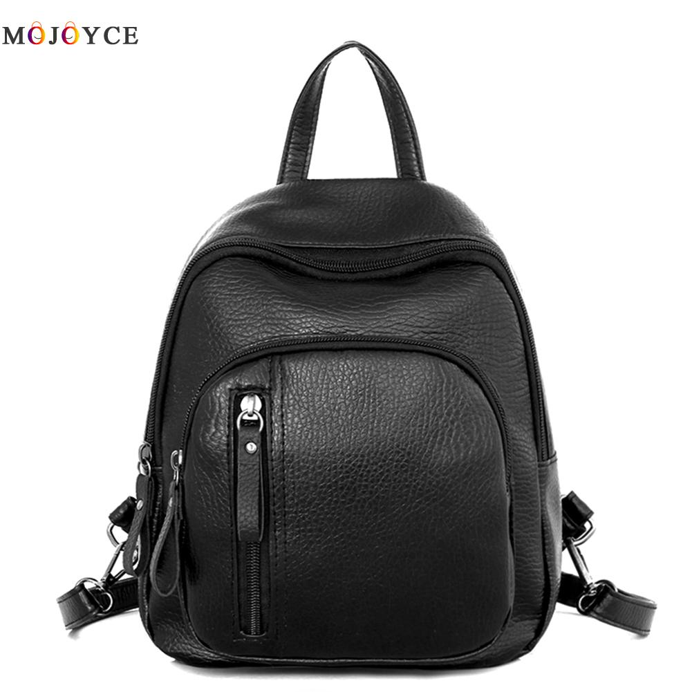 Small women backpacks rivet zipper Mini pu leather backpack korean style Teenager girls School backpack Mochila Feminina 710 39 99usd 9 colours 2017 wholesale korean fashion pu zipper primary secondary school students backpack five pieces 2017121401