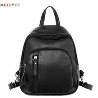 Small women backpacks small rivet zipper pu leather student backpack korean style backpack girls women's back pack runsuck