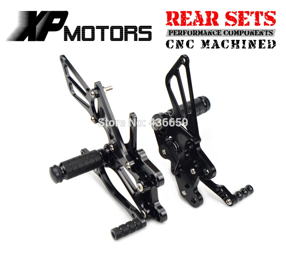 Black CNC Billet Foot Control Kit Rearset Rear Sets For Honda CBR600RR 2003 2004 2005 2006 CBR1000RR 2004 2005 2006 2007 for honda cbr1000rr 2004 2005 2006 2007 silicone radiator coolant hose kit colors red blue black