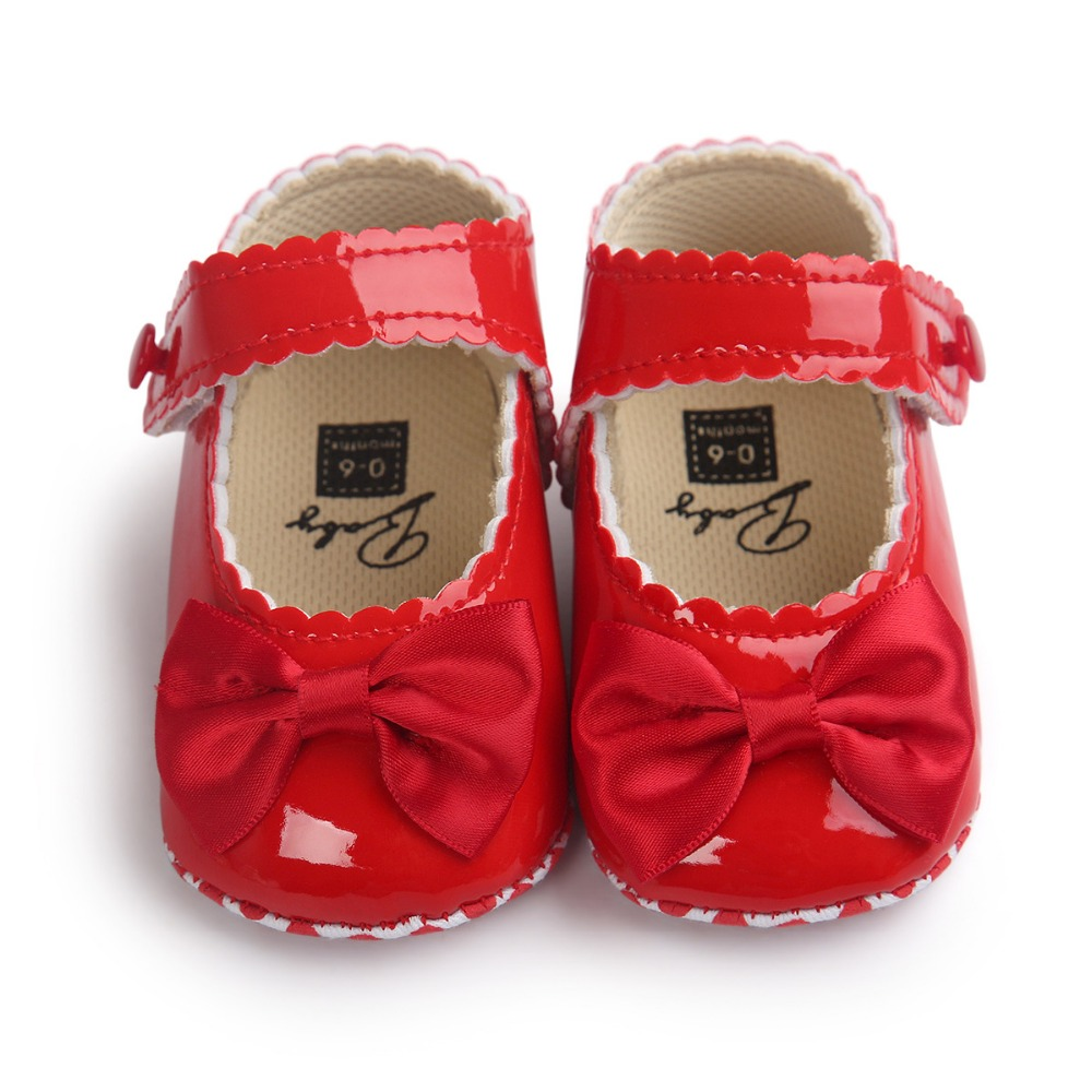 Handmade Cute Girl Baby Shoes Children Bow Shoes Princess PU Leather Ballet Shoes Soft Anti-skid Footwear Shoes Spring Autumn