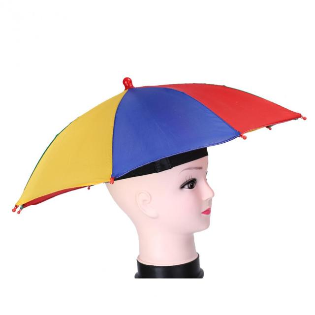 e0b84b39 Umbrella Hat Sun Shade Camping Fishing Hiking Beach Head Umbrella Cap Women  Men Kids 8 Steel Rib Sun Rain Umbrellas Hat Cap
