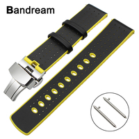 53afbe7f08e9 22mm Genuine Leather Silicone Rubber Watchband For Casio Seiko Citizen  Armani Timex CK Fossil Watch Band