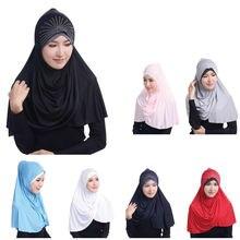 Мусульманский шарф 75*75 см женский модный головной платок из