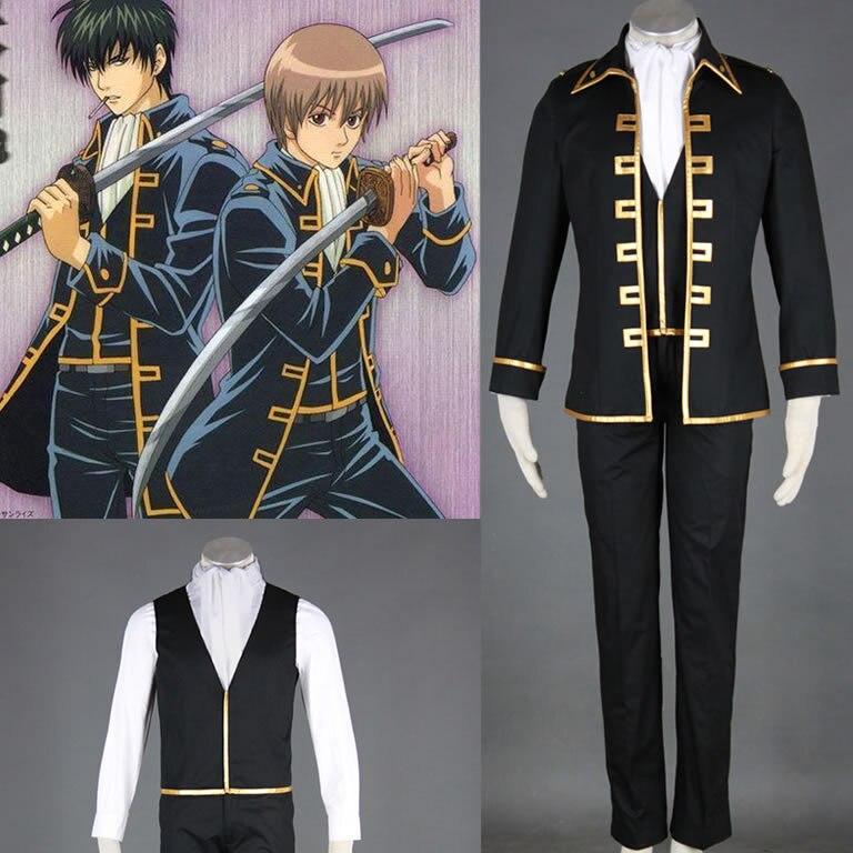 Gintama Cosplay Suit Shinsengumi Okita Sougo Hijikata Toushirou Cos  Costume