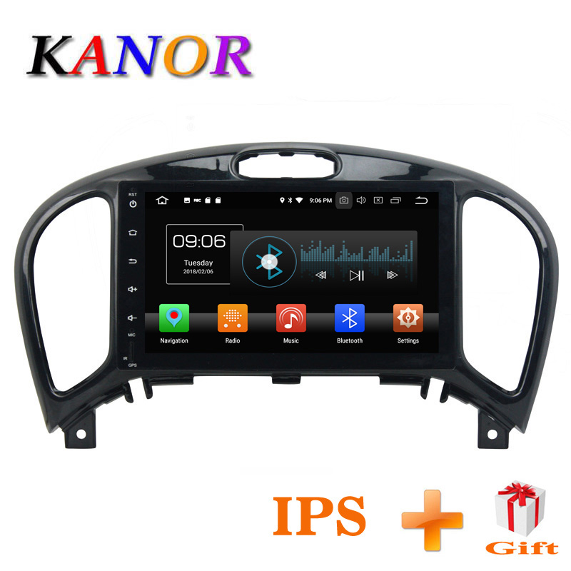 Kanor Octa Core Android 8.0 4+32g IPS Screen 2din Car Radio for Nissan Juke 2004-2012 in dash 2 din 1024*600 car gps navigation джинсы женские levi s® 501 skinny цвет темно синий 2950200330 размер 27 30 44 30