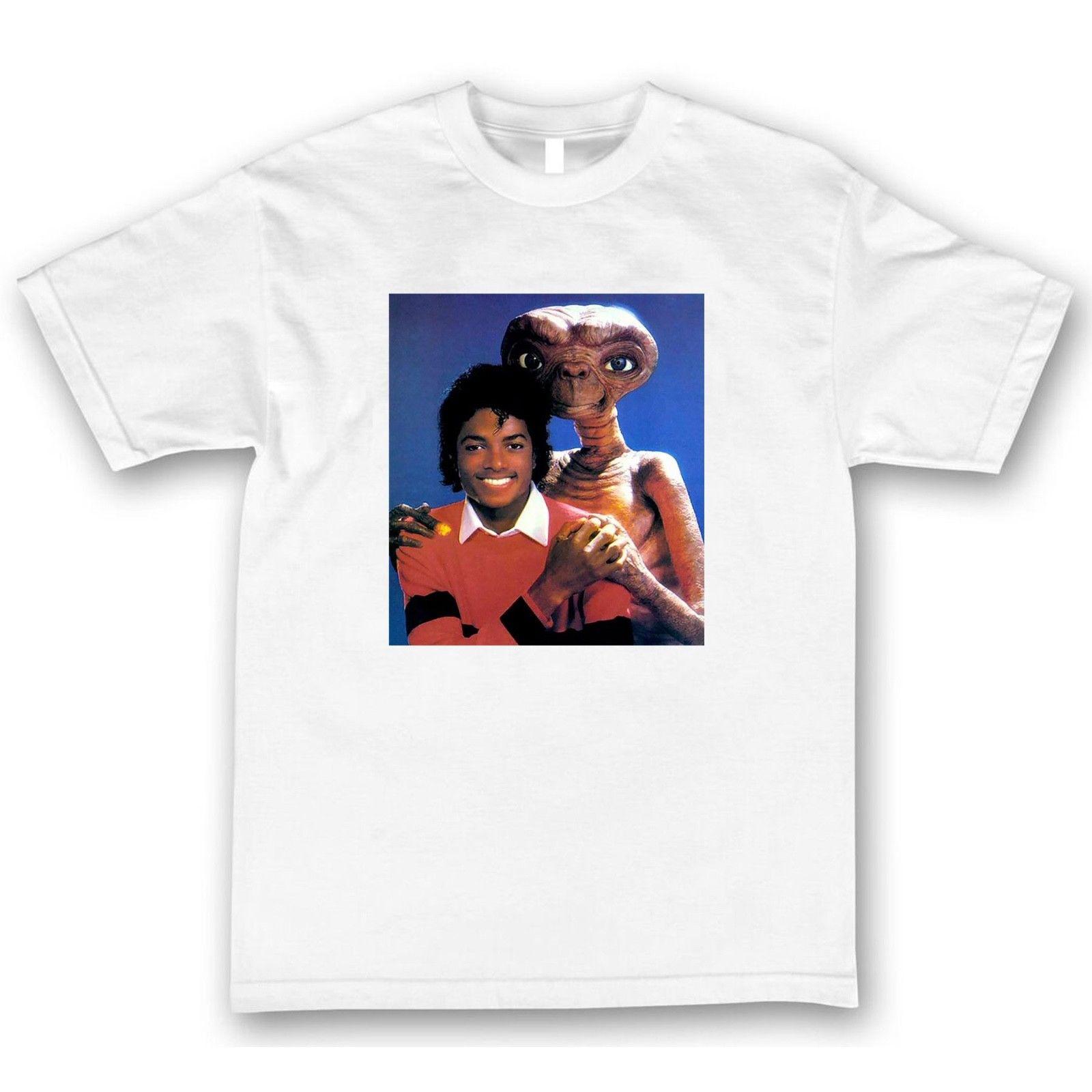 Camiseta de Michael Jackson y E.T Camisetas Retro Thriller 100% algodón a estrenar camisetas