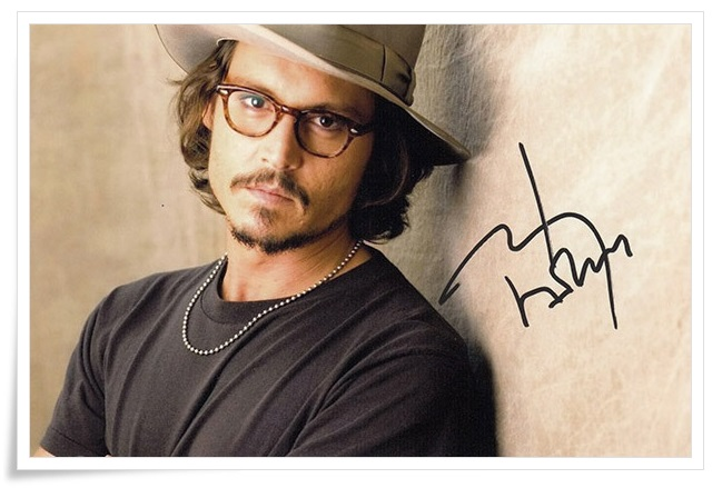 Johnny Depp autographed signed photo 4*6 inches authentic freeshipping  01.2017 johnny cash johnny cash american recordings 7 lp