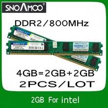 Оптовая продажа 2 ШТ./ЛОТ Бренд РАМС DDR2 4 ГБ = 2 ГБ + 2 ГБ 800 МГц PC2-6400 Совместимость с 667 МГц 533 МГц DIMM Памяти Для Настольных ПК Для ВСЕХ
