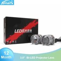 Ronan 2PCS 5500K Car LED Headlight 3inch Bi LED Projector Lens Headlight for Motorcycle Car Light Retrofit kit Auto LED