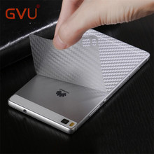 GVU Carbon Fiber 3D Soft Film For Huawei P8 P9 P10 P9 Plus Film Clear Scratch-protection Back Film For Huawei P8 lite P9 lite