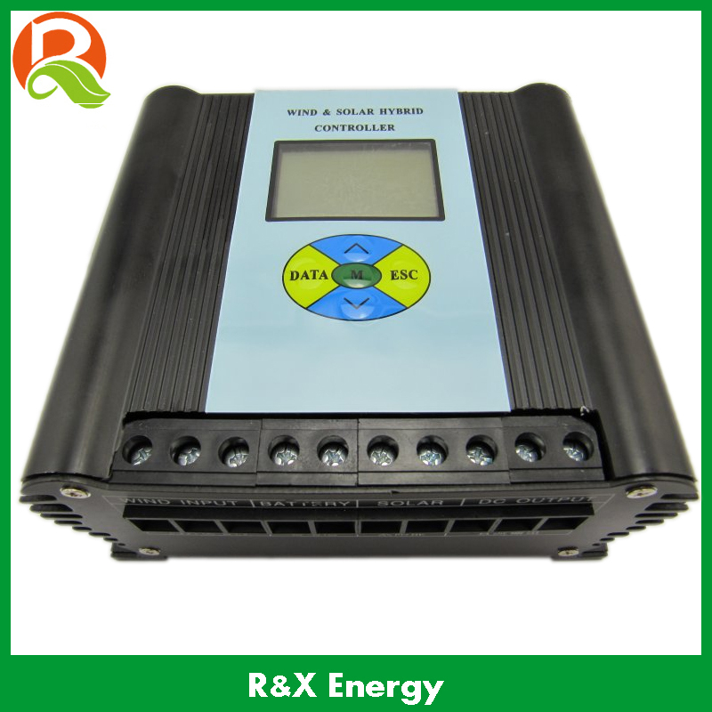 PWM 600w wind/solar hybrid controller 12v/24v charge controller with LCD display. Used for wind and solar power system.