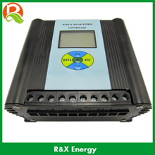 600w wind/solar hybrid controller 12v/24v charge controller with LCD display. Used for wind and solar power system.