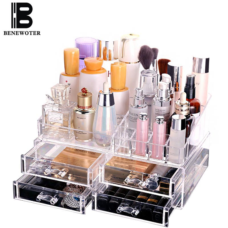 Transparent <font><b>Acrylic</b></font> Make Up <font><b>Organizer</b></font> Storage Boxes Desktop Jewelry <font><b>Drawer</b></font> <font><b>Organizer</b></font> Lipstick Mask Storage Box Home Decoration image