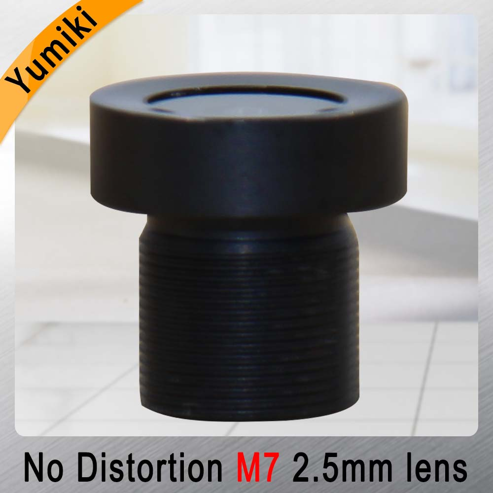 Yumiki 2.5mm M7 Lens 1/4 Inch 5MP IR F1/2.5 No Distortion Lens For Cctv Camera Wide Angle 115degree