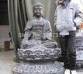 shitou 00181 Tibet temple classical Old Bronze lotus flower Tathagata Amitabha Buddha Statue