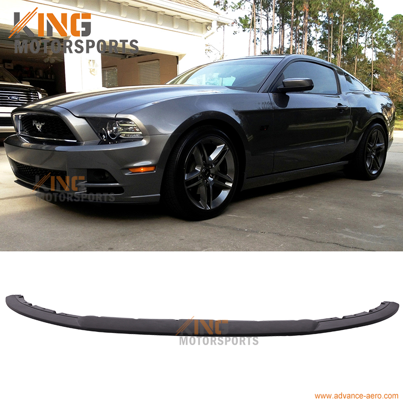 for 2013 2014 mustang v6 gt style front bumper lip spoiler polyurethane pu in license plate. Black Bedroom Furniture Sets. Home Design Ideas