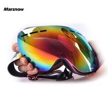 Marsnow Outdoor Children Ski Goggles Girls Boys Kids UV400 Snowboard Eyewear Double Layer Lens Anti-Fog Skateboard Snow Goggles
