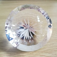 Clear 150mm/200mm Shinning Crystal Diamond Paperweight Glass Fengshui Crafts Home Decor DIY Birthday Wedding Gift Party Souvenir