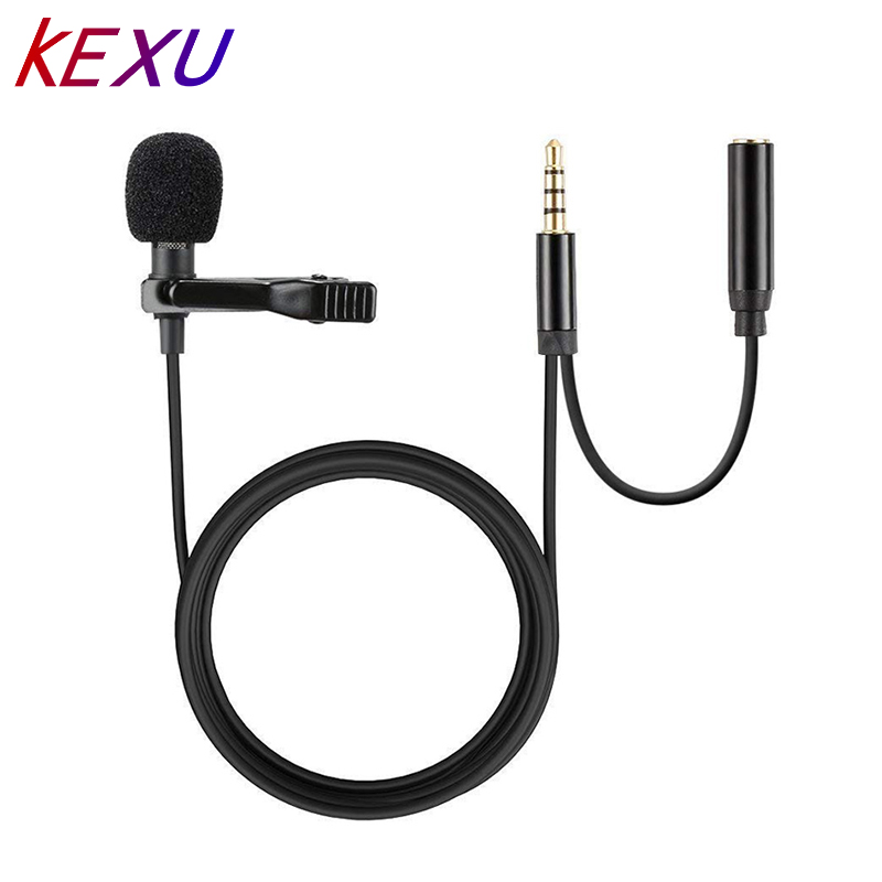 USB Lavalier Lapel Microphone Clip-on Cardioid Condenser Computer mic Plug and Play USB Microphone with Sound Card for PC Mac microfono pop voice pv550