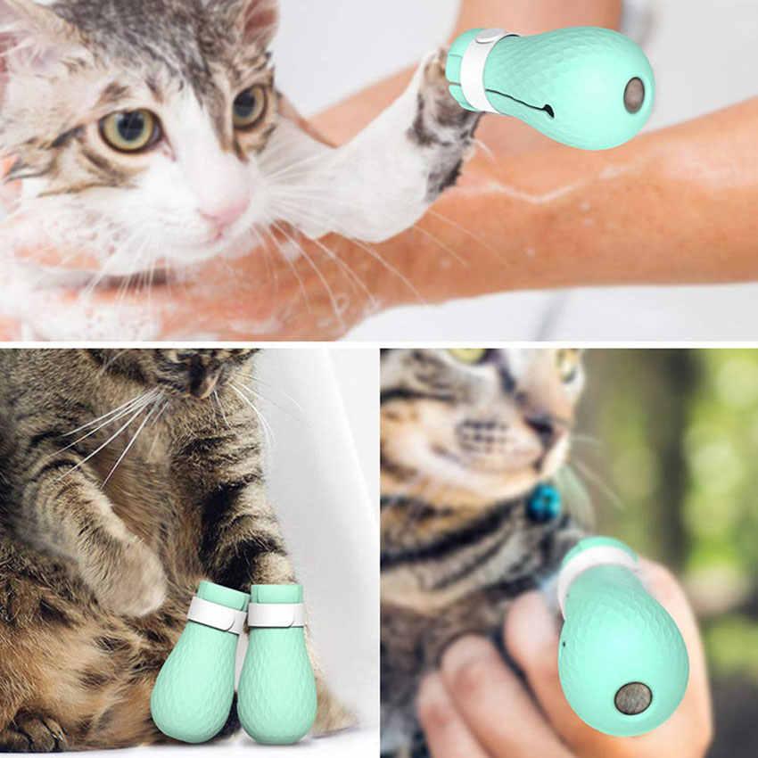 מתכוונן לחיות מחמד חתול Paw מגן עבור אמבט רך סיליקון נגד שריטות נעלי חתול טיפוח ציוד בדיקת חתול Paw כיסוי