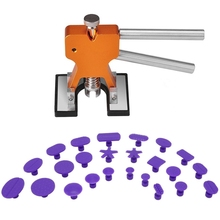 Gliston 2016 Paintless Dent PDR Herramientas-Dent Lifter Para Auto Herramientas de reparación de Mano Levantador Extractor Con 24 Unids Pestañas Pegamento Pegamento