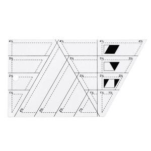Image 2 - 5x Quilting Polygon Hexagon Shapes 바느질, 퀼팅 및 스크랩북 용 아크릴 템플릿 읽기 쉬운 표시