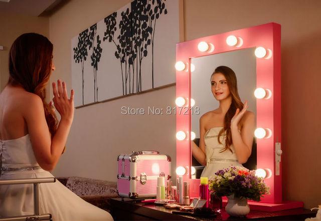 Hollywood espejo de maquillaje estaci n con luces for Espejo tocador con luces