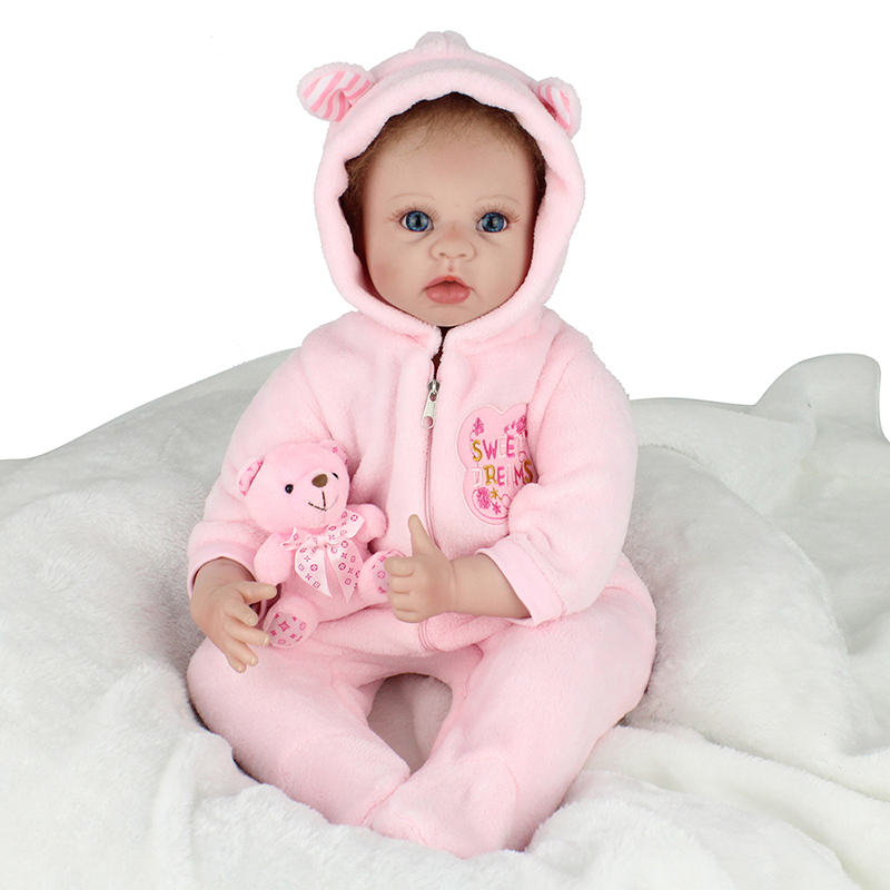 55cm Soft Body Silicone Bebe Reborn Baby Doll Toy for Girls NewBorn Girl Baby Juguetes Birthday Gift Bedtime Early Education Toy цена