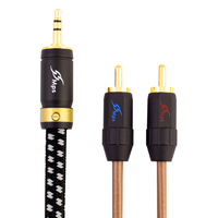 MPS X 5 Leopard HiFi 99 9997 OFC Silver Plated 24K Gold Plated Plug 3 5mm