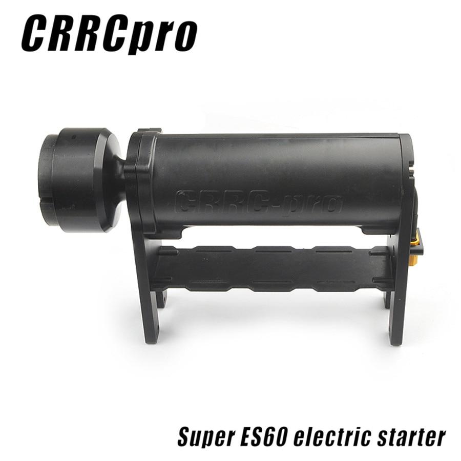 crrcpro es60 starter para 15cc 62cc gas nitro motor rc aviao helicoptero