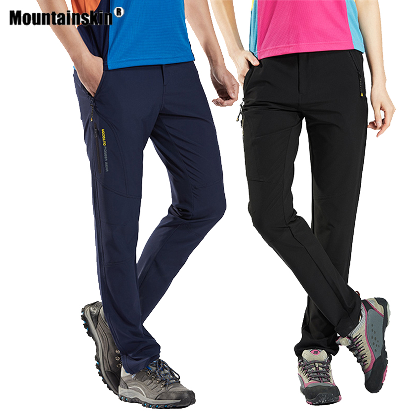 Men Women's Summer Hiking Breathable Thin Pants Quick Dry Outdoor Sports Climbing Camping Trekking Fishing Female Trousers VA549