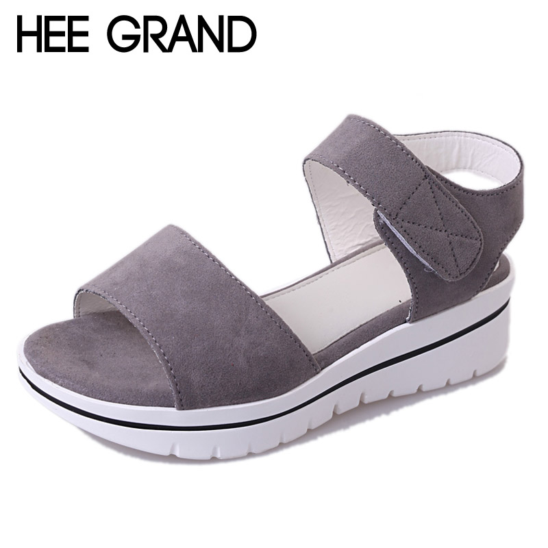 HEE GRAND 2017 Fock Women Sandals Summer Comfort Flats Fashion Creepers Platform Casual Shoes Woman 3 Colors XWZ4244 hee grand lace up gladiator sandals 2017 summer platform flats shoes woman casual creepers fashion beach women shoes xwz4085