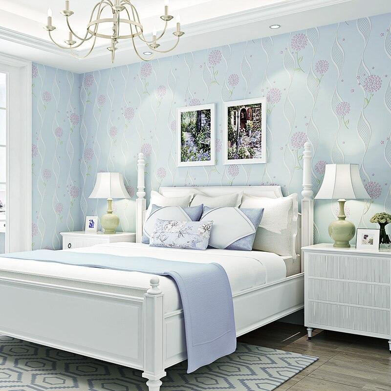 Купить с кэшбэком PAYSOTA Korean Style Nonwoven Wallpaper Living Room Bedroom Background Wall Paper