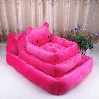 6 Colors Joy Cute Animal Cat Dog Pet Beds Mats Teddy Dogs Sofa Pet Bed House Big Blanket Cushion Basket Supplies Cartoon 3