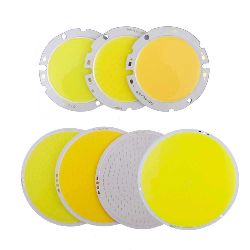 COB LED Chip 30W/50W/200W/300W Round Led Light Source For DIY Lamp Bulb Car Camp Lighting White/Warm White/Blue/Red DF0 new h4 120w cree chips car led headlight kit 6000k white car bulb lamp light cob led light chip