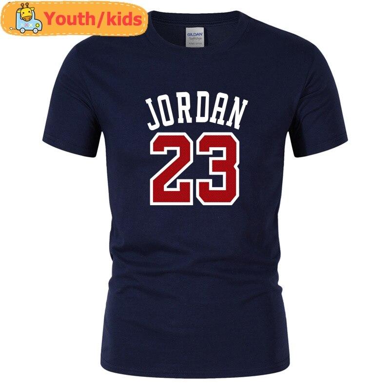 Gioventù Per Bambini Marchio Di Abbigliamento Jordan 23 T-shirt Swag T-shirt In Cotone Stampa T Shirt Homme Camisetas Fitness Hip Hop Magliette Alleviare Il Caldo E Il Colpo Di Sole