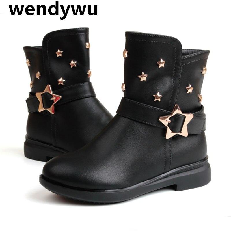 Online Get Cheap Girls Black Boots -Aliexpress.com   Alibaba Group
