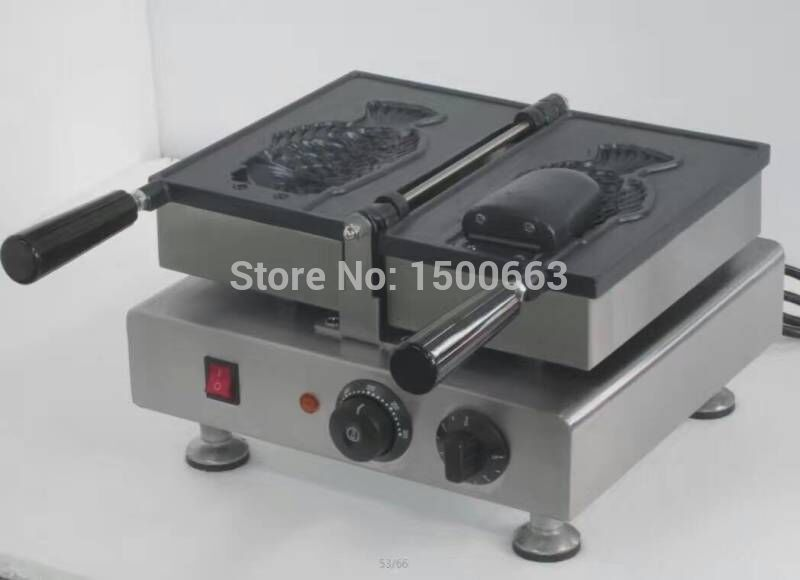Free shipping~1 pcs Big Fish Waffle Maker Ice Cream Taiyaki Machine with Non-stick surface 1 pcs deli big fish