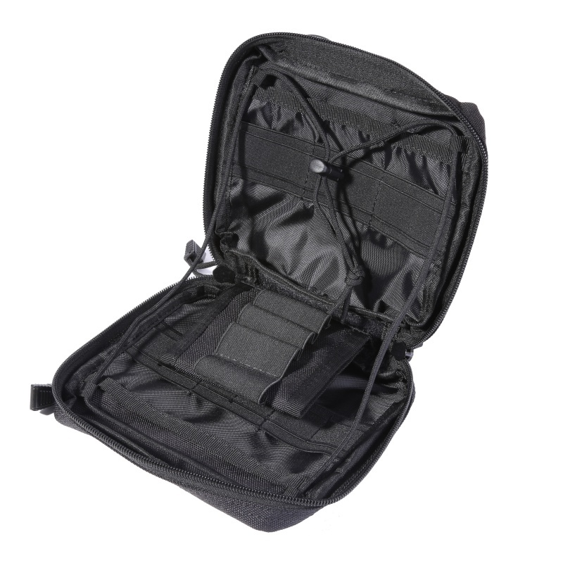 1000D Nylon Tactical Molle Medical Pouch EDC Organizer Wear-resistant Waist Pack Military Hunting Travel Survival First Aid Kit