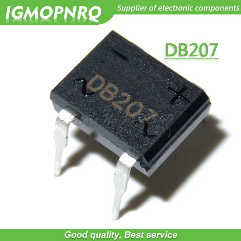 10pcs DB207 DIP4 2A 1000V Rectifier Bridge
